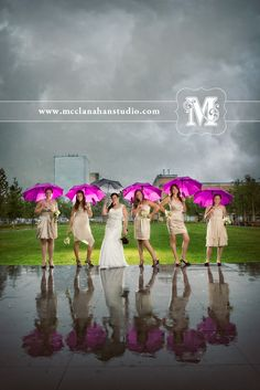 Don't let rain ruin your wedding day... buy umbrellas that match your color palette and play outside anyway!