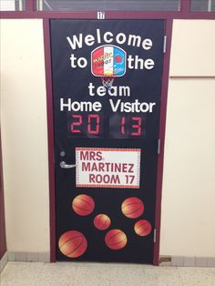 Basketball theme door for our school sport theme!