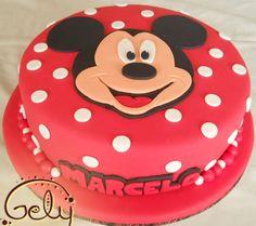 Torta con la Cara de Mickey Mouse