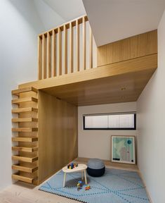 Two Storey Concrete and Timber Frame House family home kids bedroom