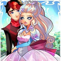 But then Chase meets Daring Charming, Darling's bro! And they start fighting! For most heroic... person! And Chase wins! And he gets to attend Ever After High! And then Darling + Chase? What? Chase + Darling they're supposed to hate each other, red knight white knight. This is like Royal + Rebel dating all over again