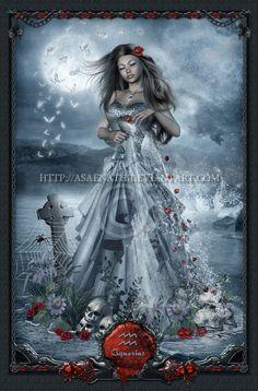 Gothic Zodiac: Aquarius by *UnholyVault on deviantART