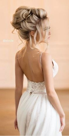 wedding hairstyles for bride | bridal hair style | long hair | blonde | updo | romantic | classy