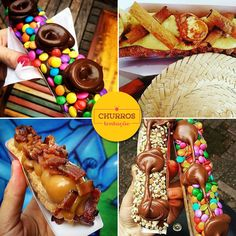We Share IdeasTop Churros Gourmet Food Trucks, Mexican Bakery, Delicious Desserts, Yummy Food, Waffle Bar, Snack Recipes, Dessert Recipes, Spritz Cookies, Food Wishes