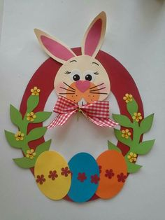 Fun easter crafts for kids Easter Art, Easter Crafts For Kids, Easter Activities, Preschool Crafts, Decoration Creche, Diy And Crafts, Paper Crafts, Diy Ostern, Bunny Crafts