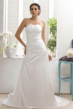 $145.49 Dresswe.comサプライ品豪華なAラインストラップレスチャペルTalineのウェディングドレス