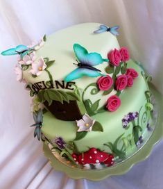 Fairy garden cake - I want this!!!!!!!