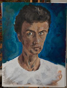 My progress as a painter two self portraits 4 years apart.