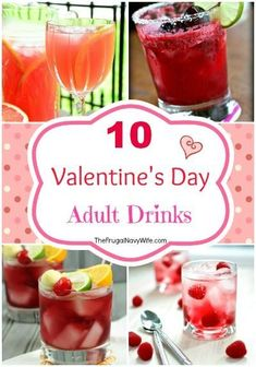 10 Valentine's Day Adult Drinks Round Up! These drinks are great for any adult Valentines Day Party Valentine Drinks, Anti Valentines Day, Valentines Gifts For Boyfriend, Valentines Day Dinner, Valentine Party, Valentines Recipes, Valentine Nails, Valentine Ideas, Valentine's Day Drinks
