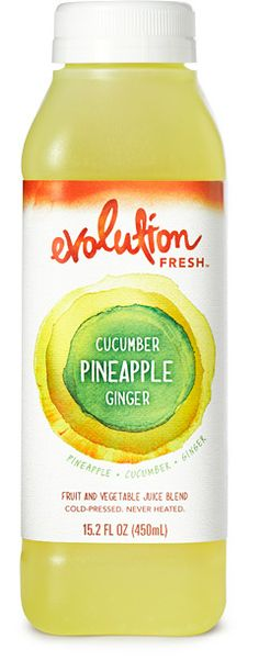 evolution fresh cucumber pineapple ginger: 1 pineapple, 1/3 cucumber, hint of ginger