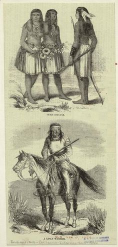 Yuma Indians ; A Lipan warrior. From New York Public Library Digital Collections.