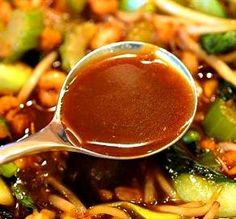 Stir-Fry Sauce (Brown Garlic Sauce) All-Purpose Stir-Fry Sauce (Brown Garlic Sauce). made used the amount of soy sauce. not bad at all.All-Purpose Stir-Fry Sauce (Brown Garlic Sauce). made used the amount of soy sauce. not bad at all. Spicy Stir Fry Sauce, Wok Sauce, Stirfry Sauce Recipe, Chicken Stir Fry Sauce, Chicken Vegetable Stir Fry, Rice Sauce, Vegetarian Chicken, Stir Fry Vegetables, Teriyaki Sauce