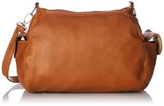 Piel Leather Top-Zip Shoulder Bag Cross Body Hobo, Honey, One Size *** Click on the image for additional details.