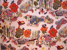 500butterfly josef frank fabric 771484 Curtain Fabric: Josef Frank