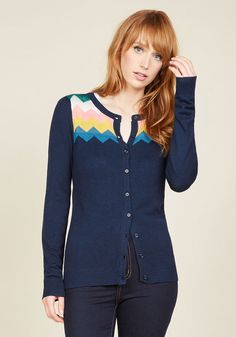 You Heard That Bright Cardigan in Navy