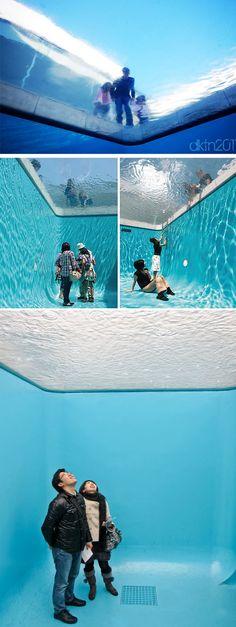 Leandro Erlich art installation simulating a pool