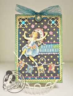 This Le Cirque card by @Maiko Miwa has all the whimsy and delight of a happy birthday! #graphic45 #cards