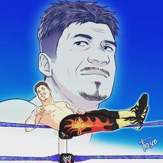 Illustration of Eddie I made few months ago Wrestling Posters, Wrestling Wwe, Chris Benoit, Eddie Guerrero, Wrestling Superstars, Wwe Tna, Wwe Champions, Wwe Wallpapers, Royal Rumble