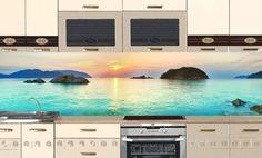 Kitchen Backsplash: wallpaper – Nature 1