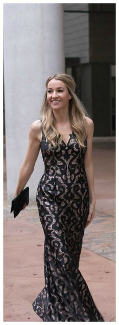 The perfect winter black tie evening gown! This dress is so comfy and perfect for a winter wedding- Life By Lee
