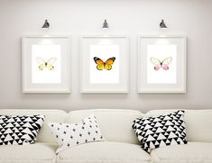 Butterfly Wall Art, Butterfly Watercolor, 3 Piece Wall Art, Home Printers, Etsy Business, Canvas Prints, Art Prints, Digital Prints, Etsy