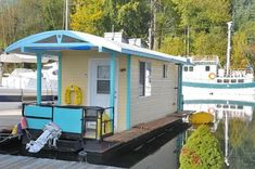 If you need a change of scenery and don't mind a serious shrinkage of your living space, this houseboat docked in the seaside town of Scapoose, Oregon, might be just the thing. Description from apartmenttherapy.com. I searched for this on bing.com/images