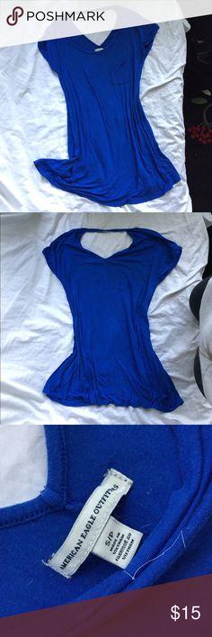 T-Shirt dress American Eagle royal blue t-shirt dress, worn once. American Eagle Outfitters Dresses Midi