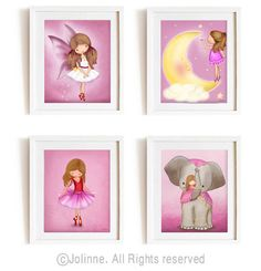 Girl bedroom Decor nursery wall art kids wall art by jolinne