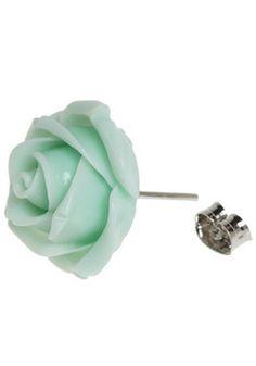pretty rose earrings (like the ones that were stolen :( ! )