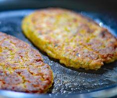 Vegan Chickpea Fried Steak (chickpeas, parsley, carrots, mushrooms) | living vegan