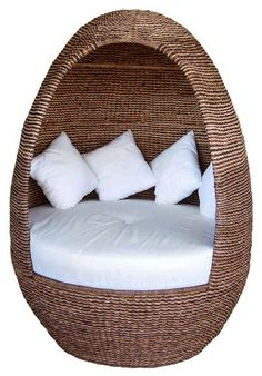 Daybed cocoon. imagine cuddling up in there with a blanket and a good book :)