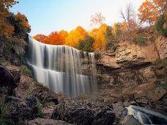 One of the many waterfalls in Hamilton, Ontario, Canada. Photo by paul (dex) Landscape Photography Tips, Autumn Photography, Landscape Photographers, Amazing Photography, Digital Photography, Waterfalls Photography, Photography Ideas, Photography School, Photography Challenge