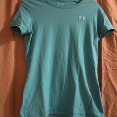 Under Armor T-Shirt Blue Under Armor cotton t-shirt Under Armour Tops Tees - Short Sleeve