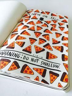 pizza, art, and creative image