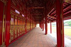 Bâtiment rouge de la cité interdite de Hué #Vietnam #voyage #visite #hue