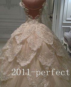 Vestidos para boda traje de novia de lujo ducto 2016 Baile Vestidos Cristales Perlas Personalizado