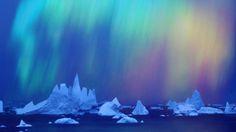 Aurora Australis over the Bellingshausen Sea, Ellsworth Land Region, Antartica