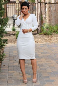 DIY Winter White Dress + Pattern Review - Mimi G Style
