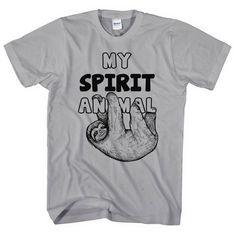 9532dcf8d Sloth T Shirt, My Spirit Animal Sloth Shirt, Funny Sloth Tee, Sloth Animal,  Cute, Hipster, Swag, Lazy Day, Hung Over, L69