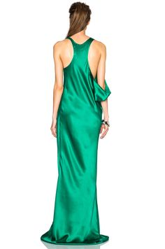 Image 5 of Ann Demeulemeester Silk Gown em Esmeralda
