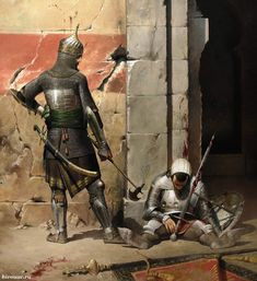 Mamluk and defeated European warrior, XV century / Мамлюк и поверженный европейский воин, XV век.