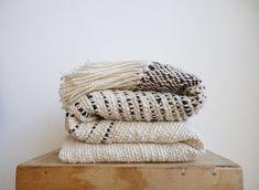 Handwoven blanket wrap, Black sheep Bed footboard, organic wool home decor
