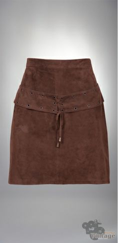 Vintage 70´s Brown Boho Suede Mini Skirt Size S - Bichovintage - Vintage & Retro & Recycled - Clothing and Accesories - Online Store