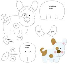Making Your Own Plushies: Felt Toys - So Crafty Dog Crafts, Felt Crafts, Sewing Crafts, Animal Templates, Felt Templates, Felt Animal Patterns, Stuffed Animal Patterns, Needle Felting Tutorials, Felt Quiet Books