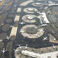 Toy planes? I think not... Helicopter view of EWR airport