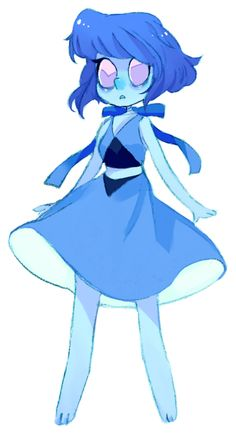 Lapis Luzullie, I think thats how you spell it. Well she is a crystla gem that is at the bottom of the ocean trying to keep Jasper under controll so the world will be safe, and if she fails, the whole world will be in danger. Talk about no presure.