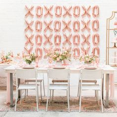 Looking for valentine's party themes? Tons of free checklists, party planning tips and valentine's ideas & inspiration. Start Party Planning like a Pro! Balloon Backdrop, Balloon Wall, Balloons, Balloon Columns, Balloon Decorations, Paper Medallions, Diy Wedding Backdrop, Backdrop Ideas, Bhldn Wedding