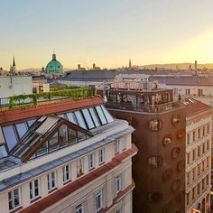 Good evening  Always inspired by the glorious imperial architecture of Vienna. View from the Rooftop Bar Lamee  .