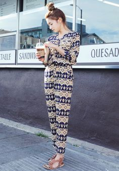 Aztec Print Jumpsuit// I love this