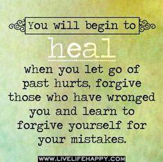 Healing begins